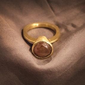 Gold & Diamond Handmade Ring | Chocolate Diamond | Remagine Designs