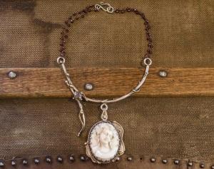 Cameo | Garnet | Remagine Designs | Necklace