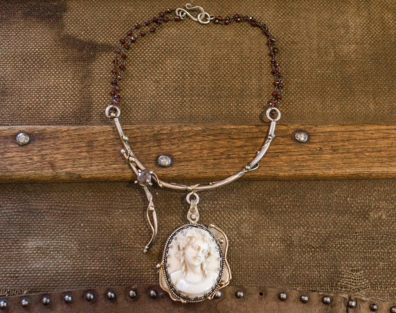 Cameo | Garnet | Remagine Designs | Necklace