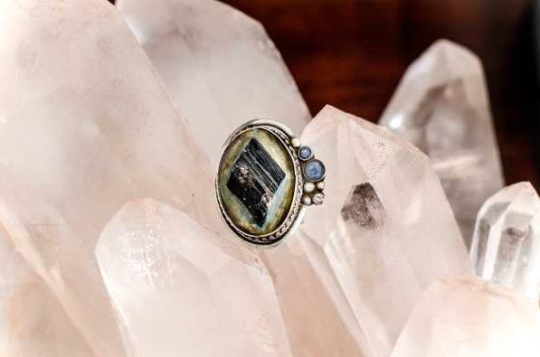 Tourmaline   Ring   Sapphire   Sterling   Remagine Designs