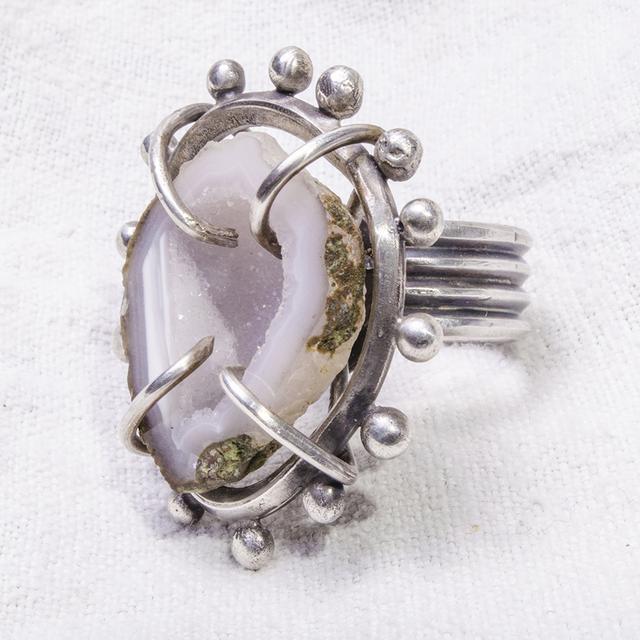Geode Cage | Druzy | handmade Ring | Statement Jewelry | Remagine Designs